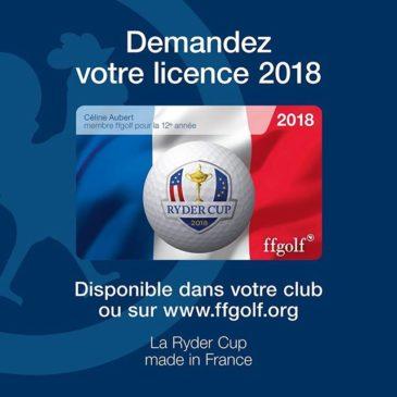 Licence ffgolf 2018