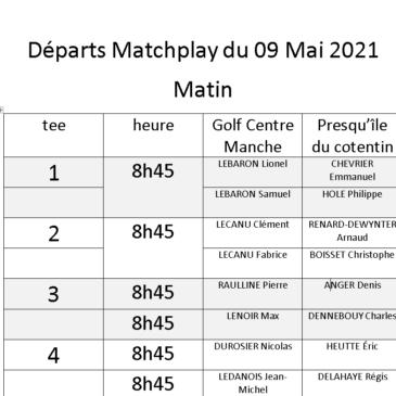 Départs Matchplay Golf Centre Manche Presqu'ile du Cotentin